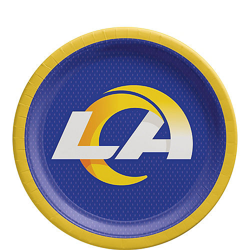 Los Angeles Rams Paper Lunch Plates, 9in, 18ct Image #1