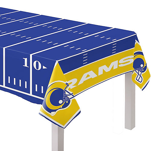 Los Angeles Rams Plastic Table Cover, 54in x 96in Image #1