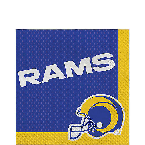 Los Angeles Rams Paper Lunch Napkins, 6.5in, 36ct Image #1