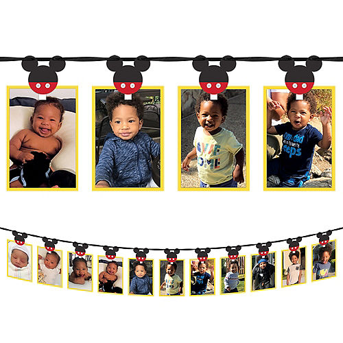 Mickey Mouse Forever 13-Picture Photo Garland Kit, 12ft, 42pc Image #1