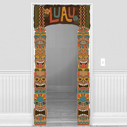 Vintage Tiki Cardstock Doorway Decoration, 41in x 87.5in Image #1