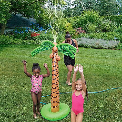 Inflatable Plastic Palm Tree Sprinkler, 5.23ft Image #1