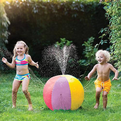 Inflatable Plastic Beach Ball Sprinkler, 29.5in Image #1