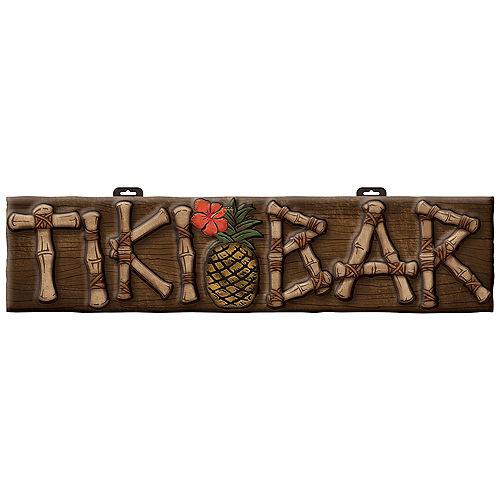 Tiki Bar Vacuform Plastic Sign, 10in x 42in Image #1