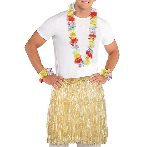 Luau Wearables Kit for 10 Guests, 50pc, Includes Skirts, Leis, Head Wreaths, & Wristlets Image #1