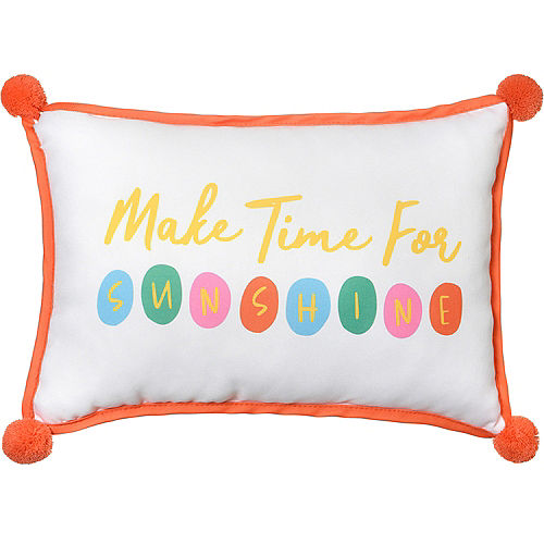 Make Time for Sunshine Outdoor Pillow, 13.25in x 9.25in Image #1
