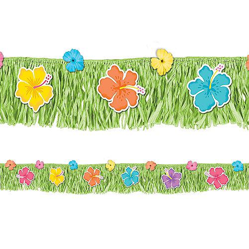 Summer Hibiscus Grass Skirt Deck Fringe, 5.8ft Image #1