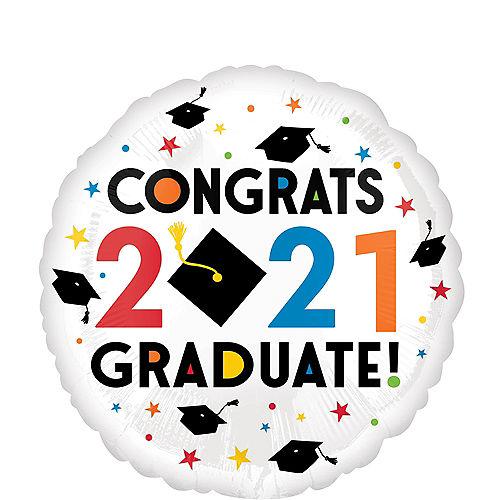Congratulations 2021 Graduation Balloon, 17in Image #1