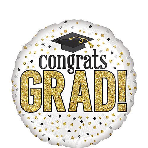 Prismatic Congrats Grad Sparkle Balloon, 17in Image #1
