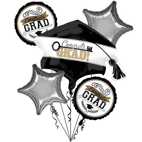 Achievement is Key Graduation Balloon Bouquet, 5pc Image #1