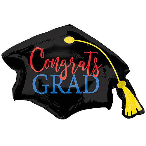 Congrats Grad Cap Balloon, 31in x 22in Image #1