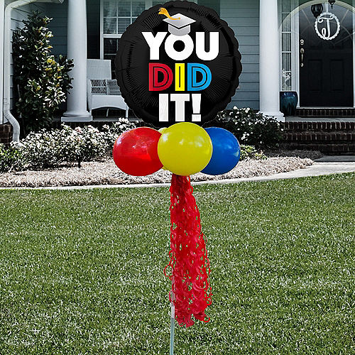 You Did It Graduation Foil & Latex Balloon Yard Sign Image #1