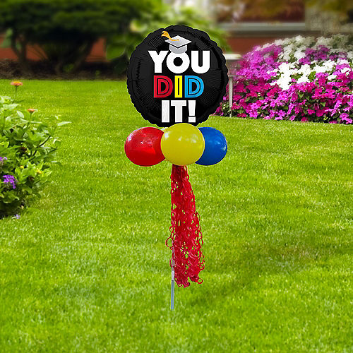 You Did It Graduation Foil & Latex Balloon Yard Sign Image #2