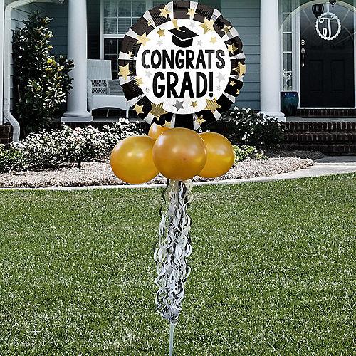 Congrats Grad Foil & Latex Balloon Yard Sign Image #1