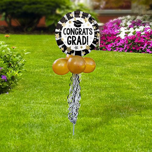 Congrats Grad Foil & Latex Balloon Yard Sign Image #2