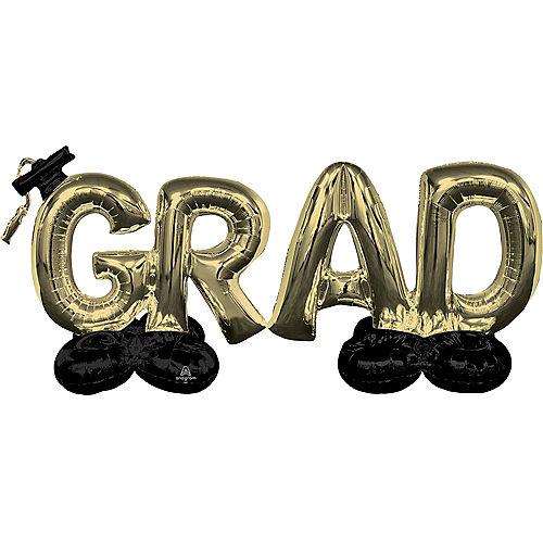 AirLoonz Gold Grad Balloon Phrase Image #1