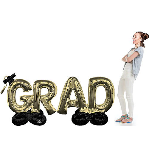 AirLoonz Gold Grad Balloon Phrase Image #2