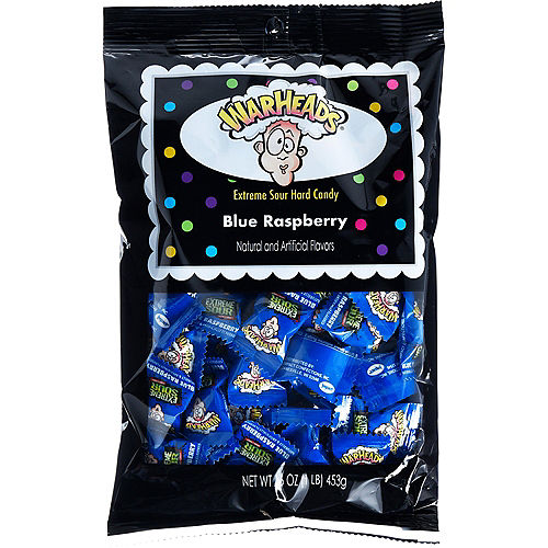Extreme Sour Blue Warheads Candy, 16oz - Blue Raspberry Image #1