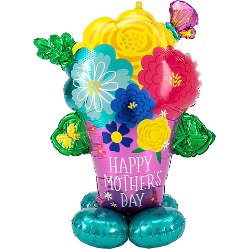 AirLoonz Pretty Flowerpot Mother's Day Balloon, 58in Image #1