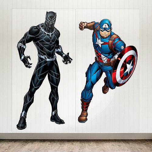 Marvel Powers Unite Black Panther & Captain America Scene Setter, 5.41ft Image #1
