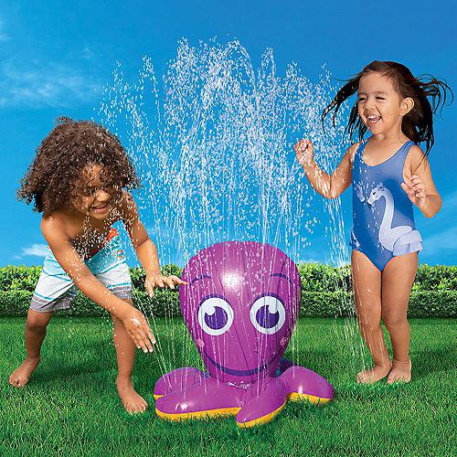 Inflatable Purple Octopus Water Sprinkler, 17in x 13in Image #1