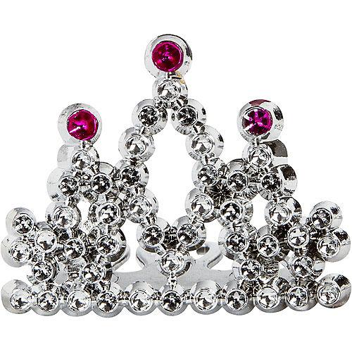 Mini Pink & Silver Tiara Combs 16ct Image #1