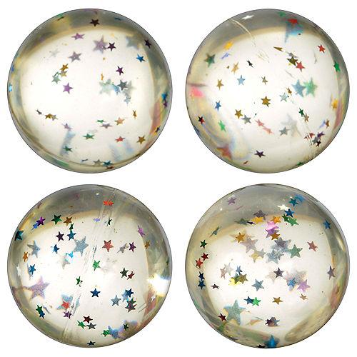 Glitter Star Bounce Balls 8ct Image #1