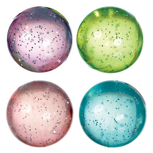 Glitter Pastel Star Bounce Balls 8ct Image #1