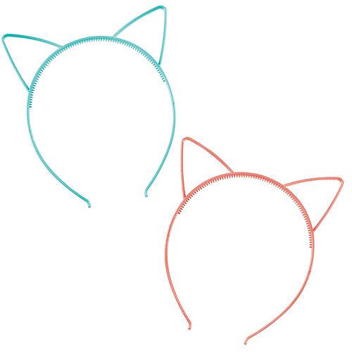 Blue & Pink Cat Ear Headbands 8ct Image #1