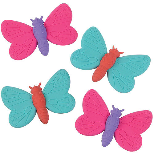 Butterfly Erasers 12ct Image #1