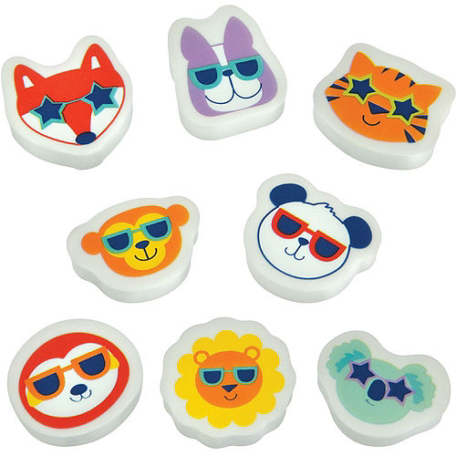 So Cool Critter Erasers 100ct Image #1