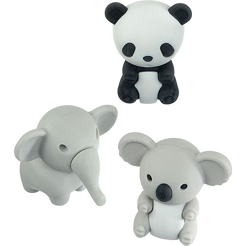 Cuddly Critter Erasers 12ct Image #1