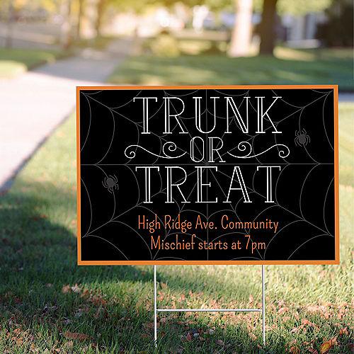 Custom Spider Web Trunk or Treat Yard Sign Image #1