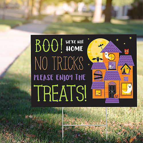 Boo Not Home Trick-or-Treat Yard Sign Image #1