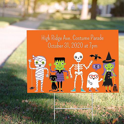 Custom Halloween Parade Yard Sign Image #1