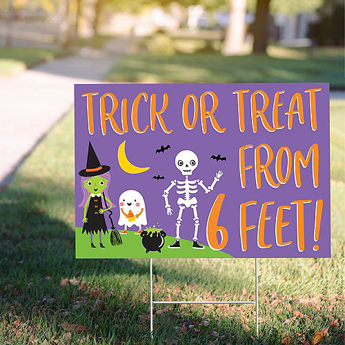 Trick-or-Treat From 6 Feet Yard Sign Image #1