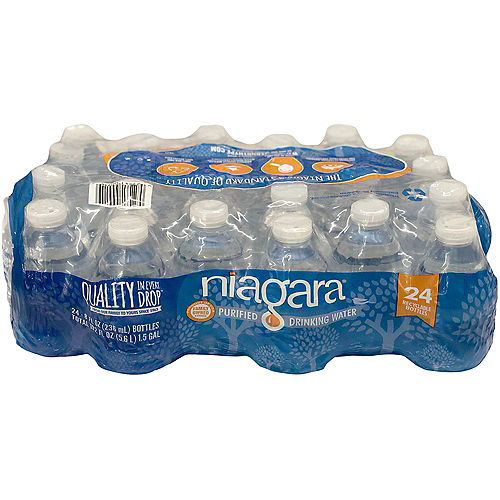 Niagara Purified Drinking Water Bottles, 8oz, 24ct Image #1
