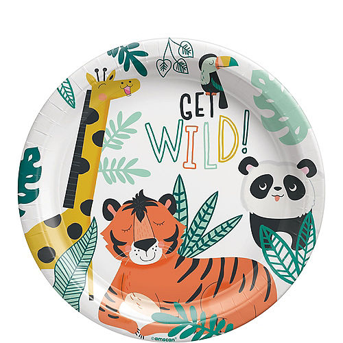 Get Wild Jungle Paper Lunch Plates, 9in, 8ct Image #1