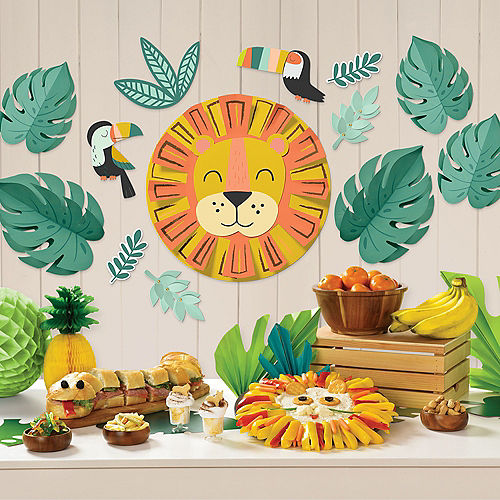 Get Wild Jungle Cardstock Wall Decorating Kit, 13pc Image #1