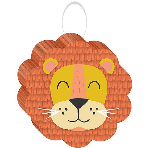 Mini Get Wild Lion Cardstock & Tissue Paper Pinata Decoration, 7in x 7in Image #1