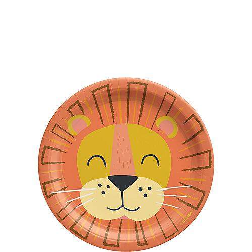 Get Wild Lion Paper Dessert Plates, 7in, 8ct Image #1