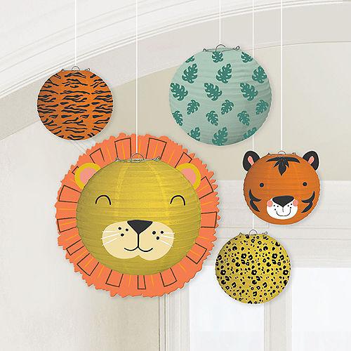 Get Wild Jungle Paper Lanterns, 5ct Image #1