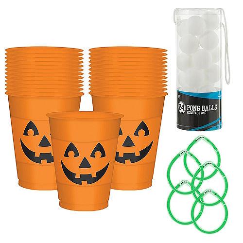 Smiling Jack-o'-Lantern Halloween Pong Game Kit Image #1