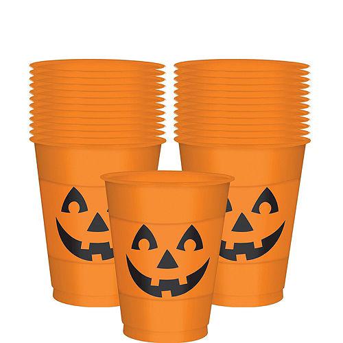 Smiling Jack-o'-Lantern Halloween Pong Game Kit Image #4