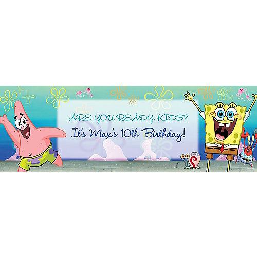 Custom SpongeBob SquarePants Horizontal Banner Image #1