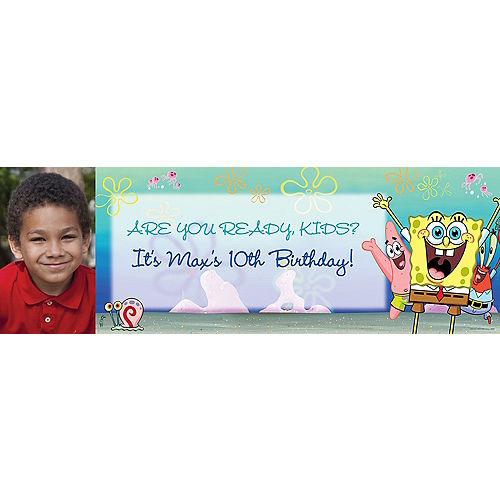 Custom SpongeBob SquarePants Photo Horizontal Banner Image #1