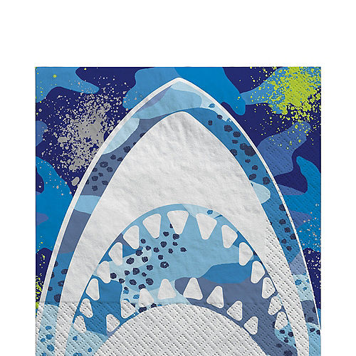 Shark Party Lunch Napkins, 6.5in, 16ct Image #1