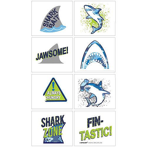 Shark Party Tattoos 1 Sheet Image #1