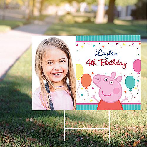 Custom Peppa Pig Photo Yard Sign Image #1
