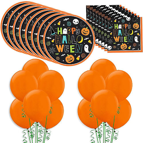 Happy Halloween Tableware Kit for 60 Guests Image #1